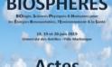 Actes 1er Colloque International BIOSPHERES – Juin 2019